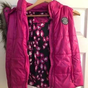 AéRopostale Hoodie Winter Pink Vest L
